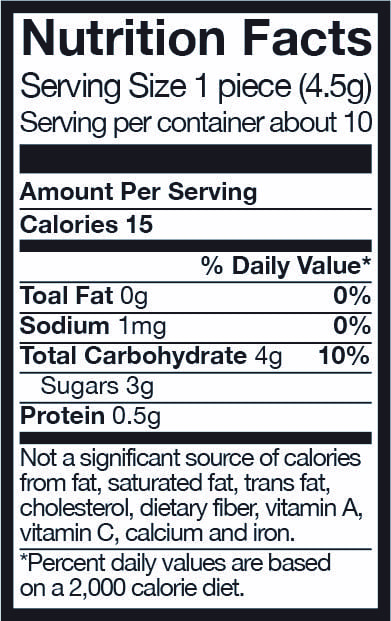 Gummy Letter Nutrition Facts